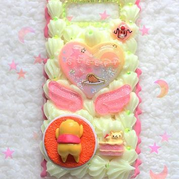 Kawaii Pastel Decoden Gudetama Sleepy Samsung Galaxy NOTE 8 Case