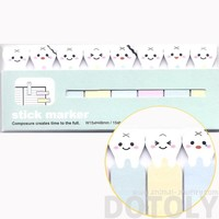 Cute Cartoon Teeth Rotten Tooth Shaped Memo Post-it Index Bookmark Tabs