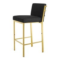 Gold Black Velvet Bar Stool | Eichholtz Scott