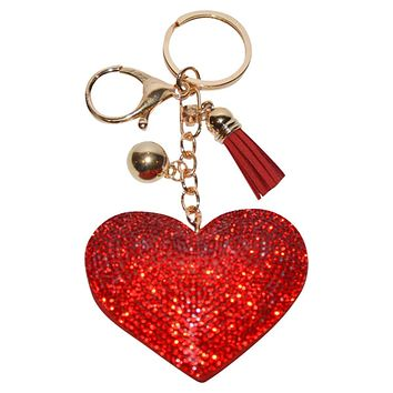 Red Heart Keychain for Women Purse Charm Backpack Charm