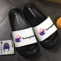 Champion x Peppa Pig Women Men Trending Flat Slippers Big C Sandals