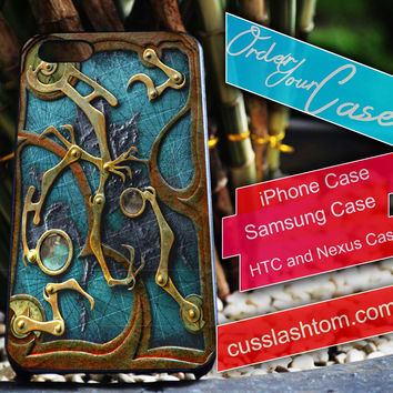 Exclusive Steampunk Book iPhone for 4 5 5c 6 Plus Case, Samsung Galaxy for S3 S4 S5 Note 3 4 Case, iPod for 4 5 Case, HtC One M7 M8