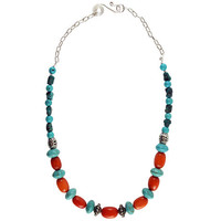Turquoise and Apricot by Garrett Jewelry