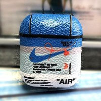 NIKE Tide brand leather hard shell airpods protective cover #3