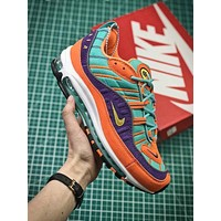 Nike Air Max 98 Cone Tour Yellow Hyper Grape 924462-800 Sport Running Shoes