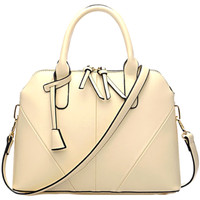 Trendy PU Leather Shell Handbag