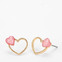 Two Of Hearts Earring