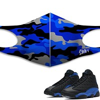 Camo Face Mask - Air Jordan 13 Hyper Royal