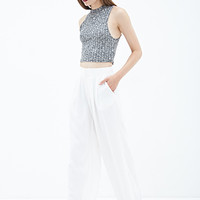 FOREVER 21 Pleated Wide-Leg Pants