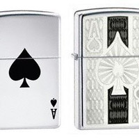 Zippo Lighter Set - Zippo Ace and Lucky Ace, Pack of Two