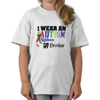 I Wear An Autism Ribbon For My Brother Tshirt from Zazzle.com