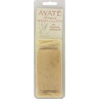 Thai Deodorant Stone Ayate All Natural Wash Cloth With Cleansing Bar - 1 Bar