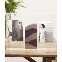 """""""Clearly Love"""" Sand Ceremony Shadow Box with Photo Frames"""