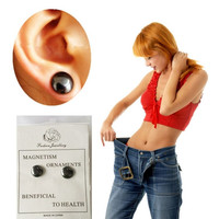Bio Magnetic Healthcare Earring Weight Loss Healthy Slimming Magnetic Therapy Ear Stimulating Acupoints Stud Earring