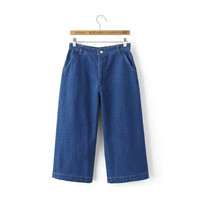 Summer Women's Fashion Pants With Pocket Jeans
