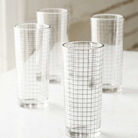 Grid Glasses Set   Urban Outfitters