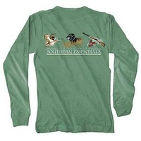"Southern Essentials ""Duck Hunt"" Long Sleeve Tee in Light Green by Live Oak"