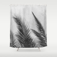 Palm Leaves 2 Shower Curtain by Mareike Böhmer Photography