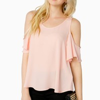 Sweet Garden Cold Shoulder Blouse