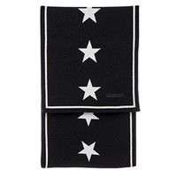 Givenchy Unisex Star Knit Scarf Black and White