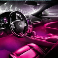 Interior LED Underdash Lighting Kit 4pc. Pink:Amazon:Automotive