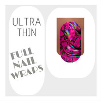 Nail Wraps Ultra Thin Nail Decal Wraps 18 Snake Water Slide Decals Nail Decal Nail Art Tattoos