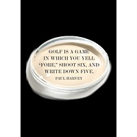 Golf Is A Game Crystal Oval Paperweight