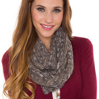 Hollis Infinity Scarf - Charcoal - One Size / Charcoal