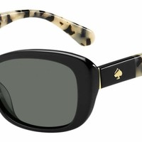 Kate Spade - Claretta P S Black Havana Sunglasses / Gray Polarized Lenses