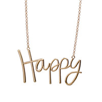Jane Stone Statement Necklace with Letter Chain Personalized Jewelry