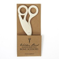 Hand Carved Fish and Egret Scissors - Set of 2