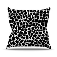 "Project M ""British Mosaic Black"" Outdoor Throw Pillow, 16"" x 16"" - Outlet Item"
