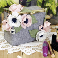Handmade Spring Flower Cosmetics Storage Clasp Box [DIY Kit OR Finished Item]