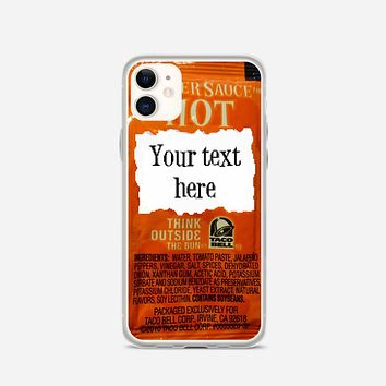 Taco Bell, Your Text Here iPhone 11 Case