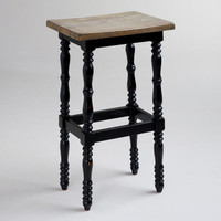 Black Penelope Spindle Stool | World Market