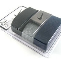 Nike One Size Fits All Web Belts : Black, Gray & Navy 3 Pack