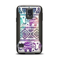 The Tie-Dyed Aztec Elephant Pattern Samsung Galaxy S5 Otterbox Commuter Case Skin Set