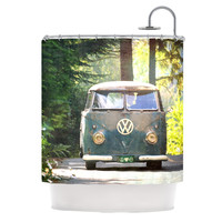 """Robin Dickinson """"Peace Love Nature"""" Forest Shower Curtain"""