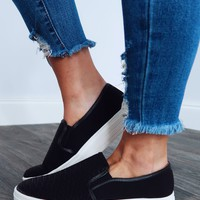 Stepping Into Fall Sneakers: Black