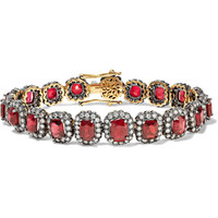 Amrapali - 18-karat gold, spinel and diamond bracelet