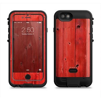 The Red Highlighted Wooden Planks  iPhone 6/6s Plus LifeProof Fre POWER Case Skin Kit