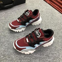 DCCK Valentino Men's Leather Climbers Sneakers Shoes