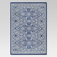 Tapestry Blue Outdoor Rug - 5'x7' - Threshold™