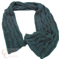 Oxford Grey Hand Knit Wavy Scarf   Cathy Creates - Handmade knit and crochet accessories and apparel