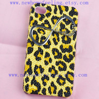 Directioner Infinity Iphone Case, One Direction Iphone 4 Case, Iphone 4S case, Leopard 1D Iphone 4 4S Case