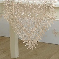 Embroidered Lace Cutwork Table Runner