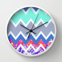 Mix #487 Wall Clock by Ornaart