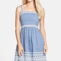 Jessica Simpson Embroidered Chambray Sundress