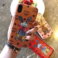 MCM Popular Women Men Cute Mobile Phone Cover Case For iphone 6 6s 6plus 6s-plus 7 7plus 8 8plus X XsMax