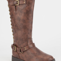 Yokids Lindy Girls Boots Brown  In Sizes